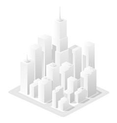 White landscape urban area vector