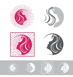 Woman Face Beauty Logo vector image