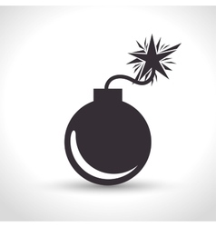 Icon insurance security bomb design vector