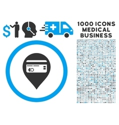 Credit card pointer icon with 1000 medical vector