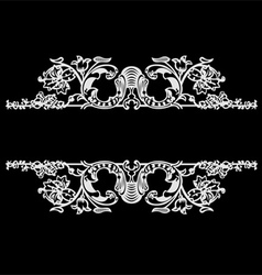 Decorative vintage ornate banner vector