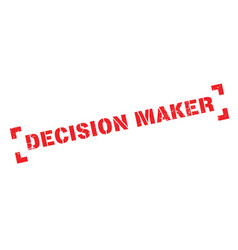 Decision maker rubber stamp vector