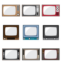 Old television icons vector