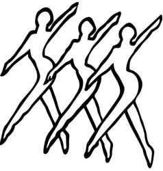 Mg00084 dance line vector