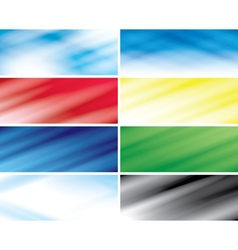 abstract color headers with blurred lines vector image