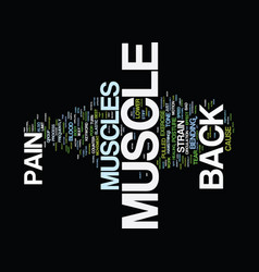 Z back muscle pain text background word cloud vector
