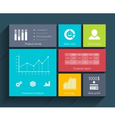 Interface template with diagrams vector
