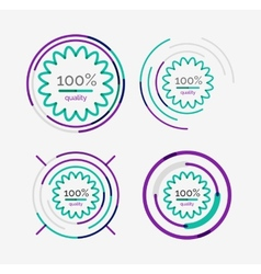 Thin line neat design logo set premium quality vector