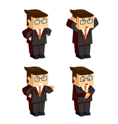 Businessman character emotions vector