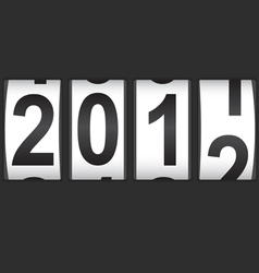 2012 new year counter vector image