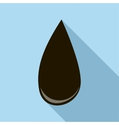 Drop of oil icon flat style vector