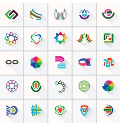 Abstract colorful design elements and icons vector image