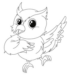 Animal outline for owl vector