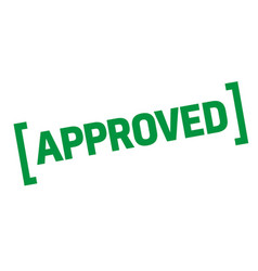 Approved sticker stamp vector