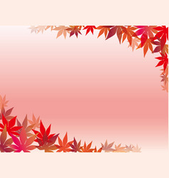 Autumn leaf frame 5 vector