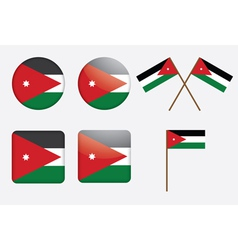 badges with flag of Jordan vector image vector image