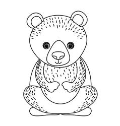 Bear cute wildlife icon vector