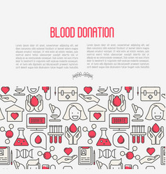Blood donation concept for web page vector
