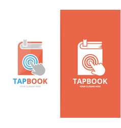 Book and click logo combination novel and vector