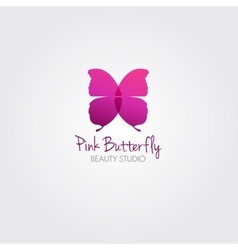 Butterfly design concept for beauty salon vector image