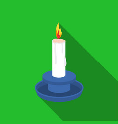 candle icon in flat style isolated on white vector image vector image