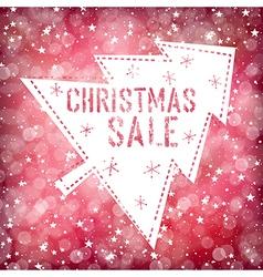 Christmas sale card vector