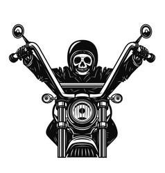 Dead man on the motorcycle motorbike racer design vector