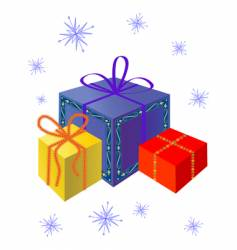festive gifts vector image vector image