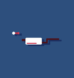 Flat icon design collection ar exhaust pipe in vector