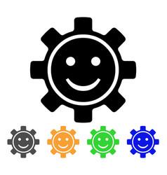 Gear smile icon vector