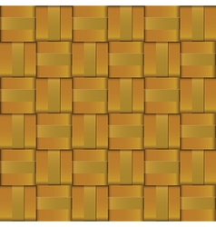 Gold metal weave cross pattern vector image vector image