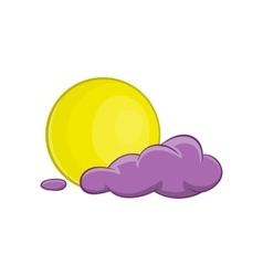 Halloween full moon icon cartoon style vector image