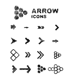 Hand drawn arrows vector image