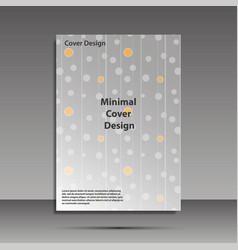 Minimal covers design geometric halftone vector