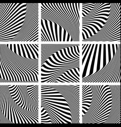 Op art patterns set vector