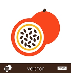 Passionfruit outline icon tropical fruit vector