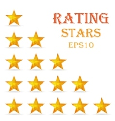 Rating stars background vector