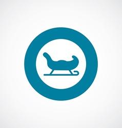 Santas sleigh icon bold blue circle border vector
