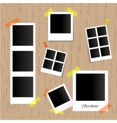 Set of realistic photo frames vector image vector image