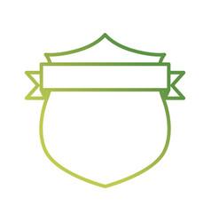 shield with decorative ribbon icon vector image vector image