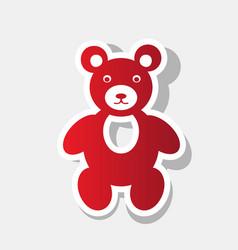 Teddy bear sign new year vector
