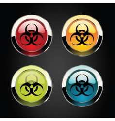 toxic icons vector image