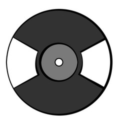 vinyl record icon cartoon vector image