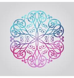 Watercolor snowflake vector