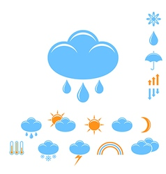 Weather forecast icon set vector