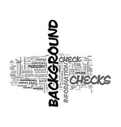 When are background checks a good idea text word vector