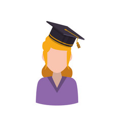 Young student profile vector