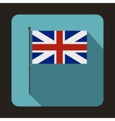 Great britain flag icon flat style vector