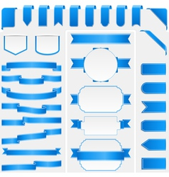 Blue ribbons and banners vector