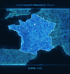 France abstract map highlighted vector